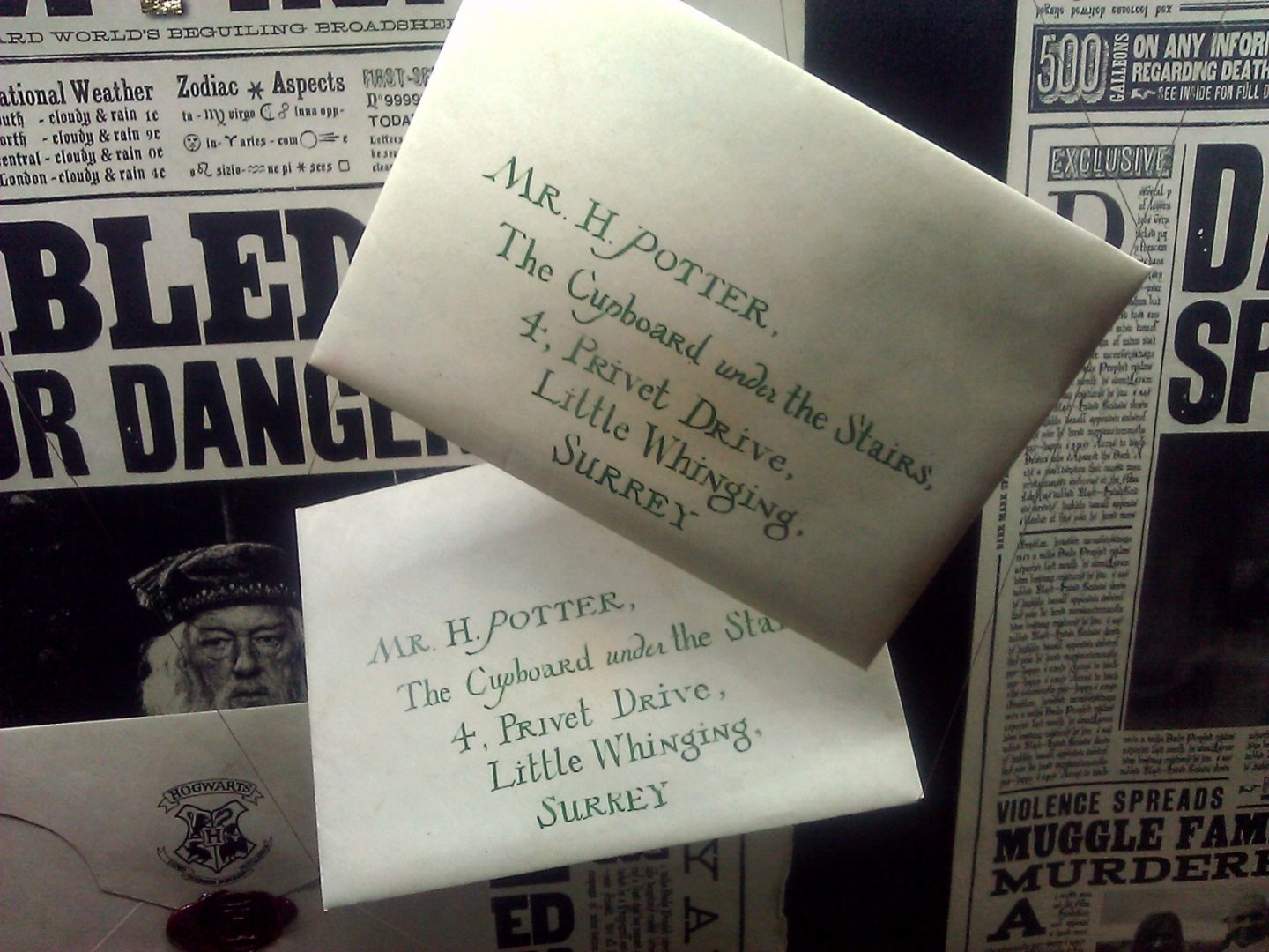 Harry Potter letters