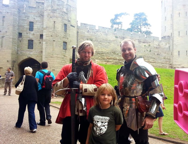 swords soldiers warwick castle
