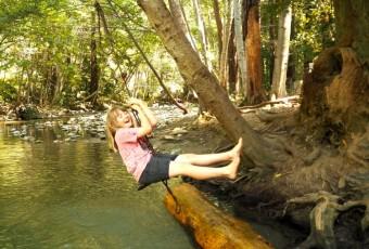 Big Sur River with kids